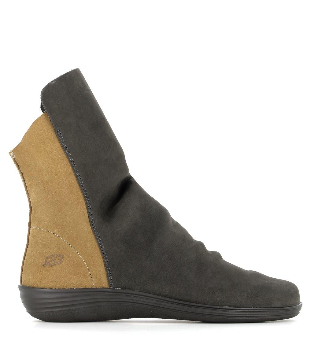 low boots circle 79005 grey mustard