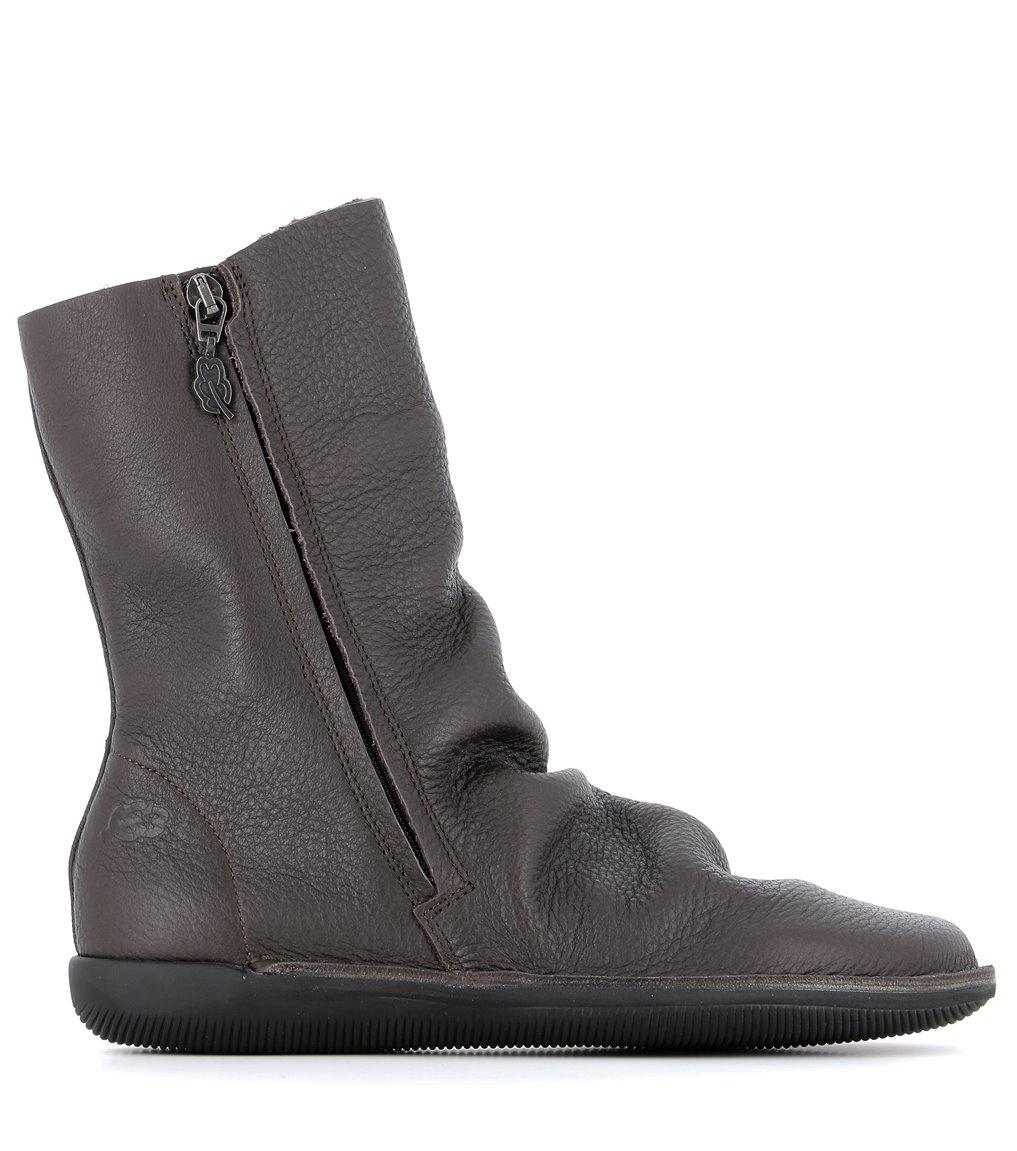 low boots natural 68111 dark brown