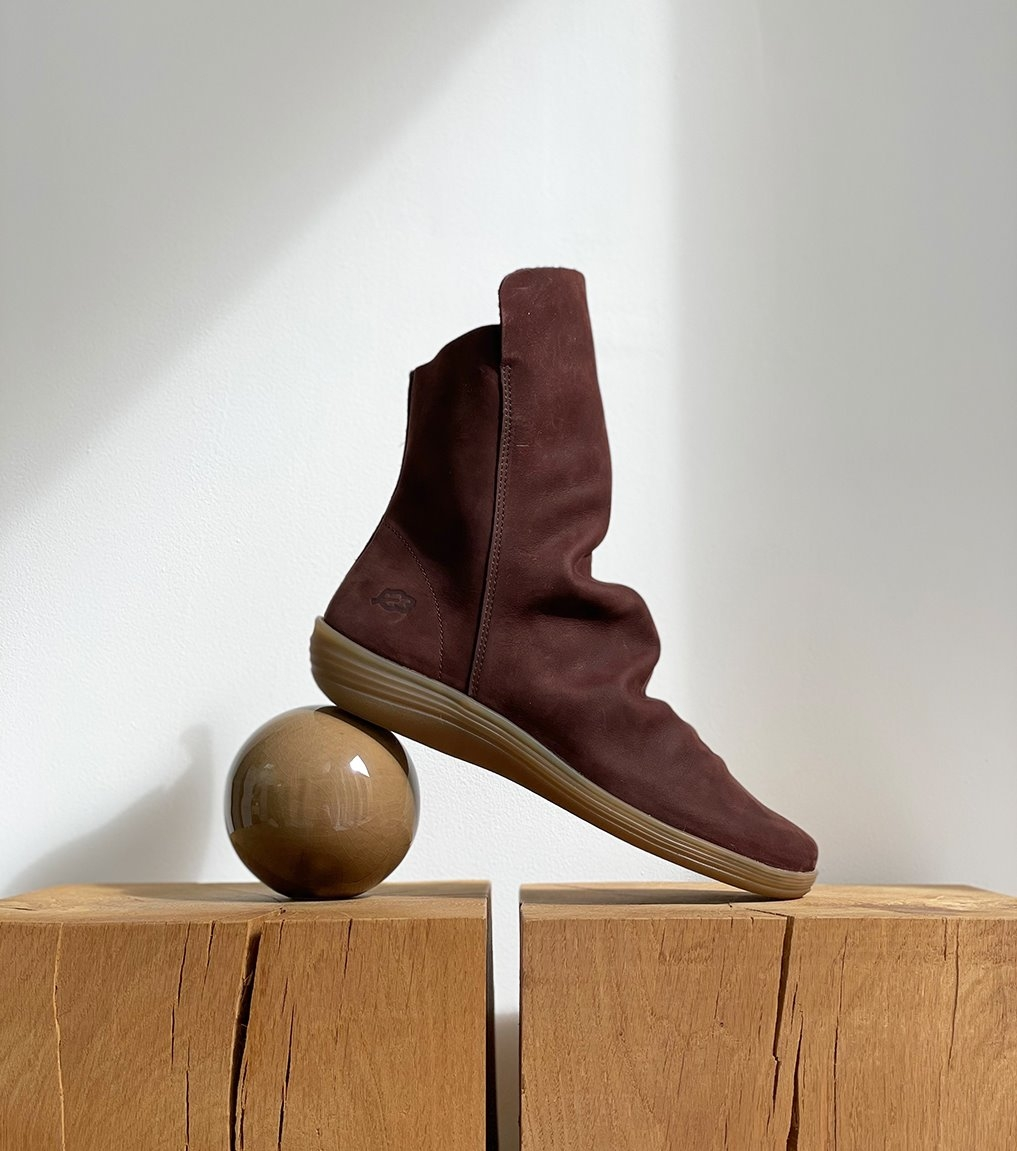 low boots circle 79015 maroon