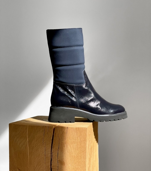 lined boots 38408 blu