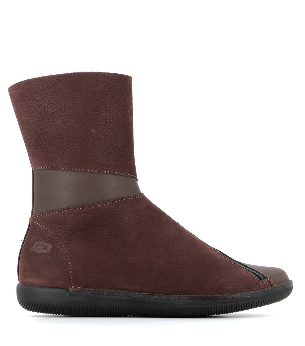 low boots natural 68105 maroon