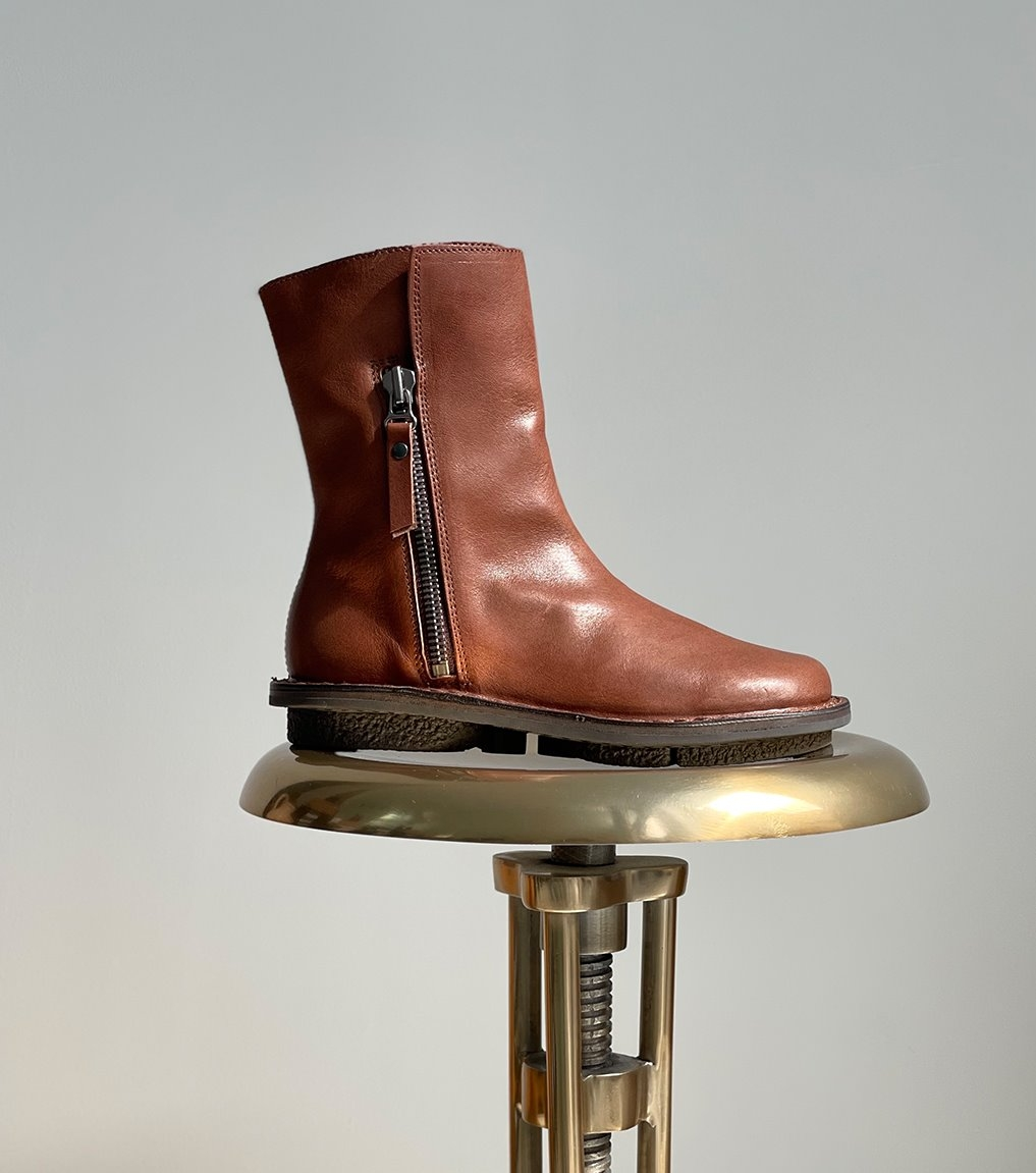 low boots deer f brown