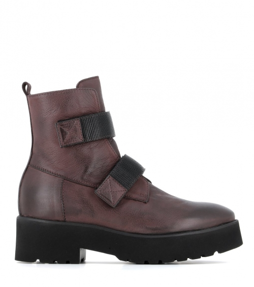 low boots 1084 melanzana