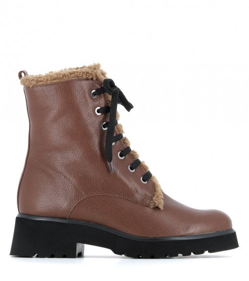 lined ankle boots 38413 camel