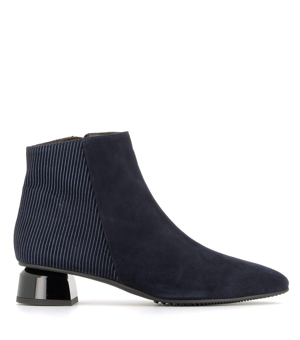 low boots 38311 velvet blu