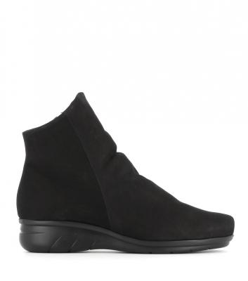 low boots dayton black