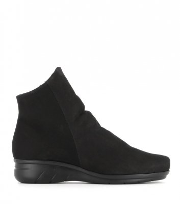 low boots dayton black