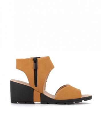 sandales clovis ocre