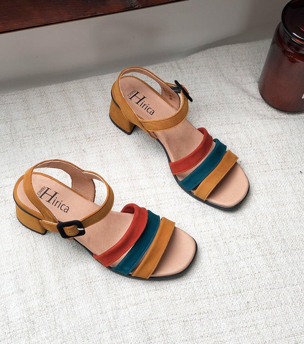 sandales agatha ocre
