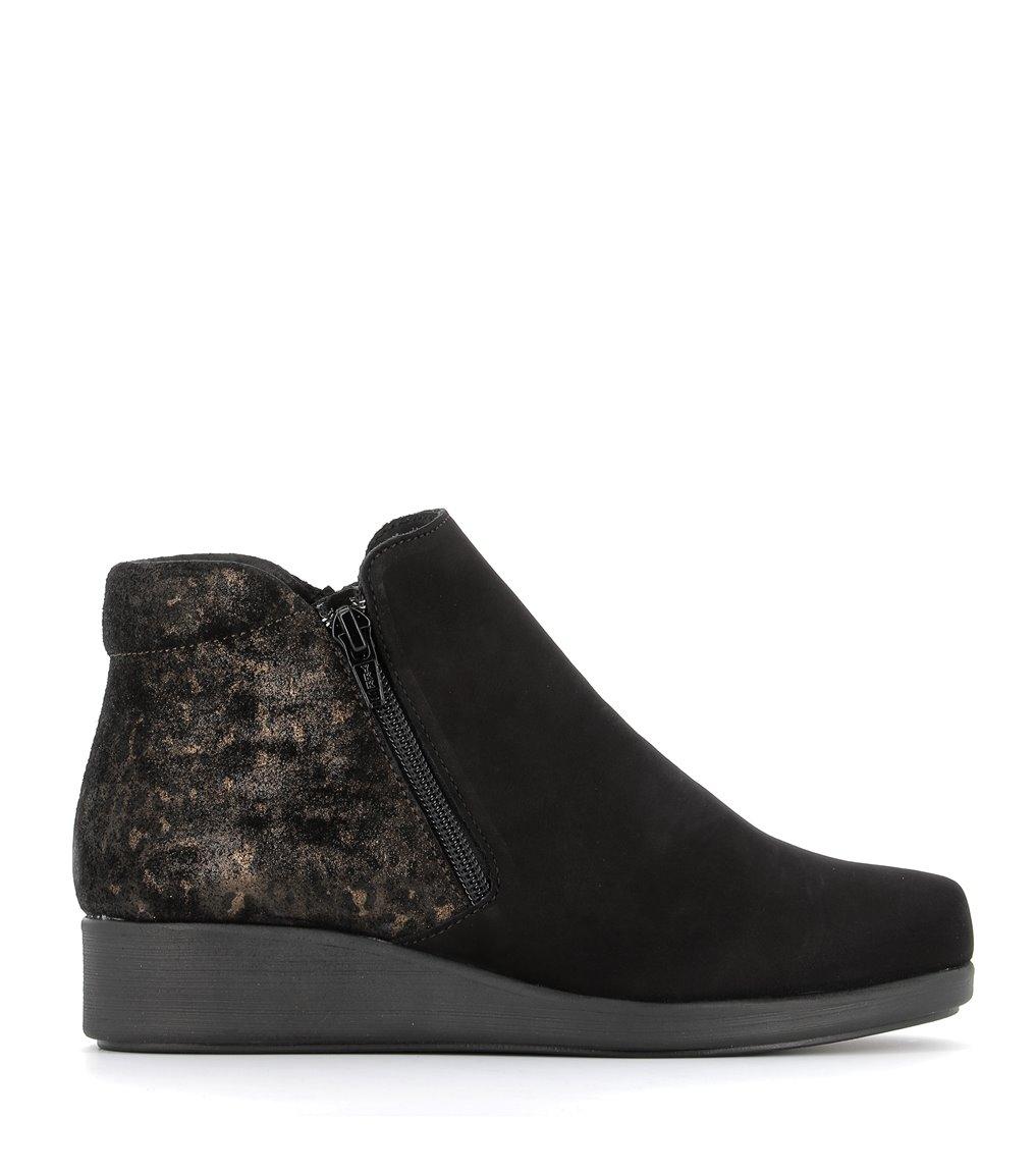 low boots bercy fauve black