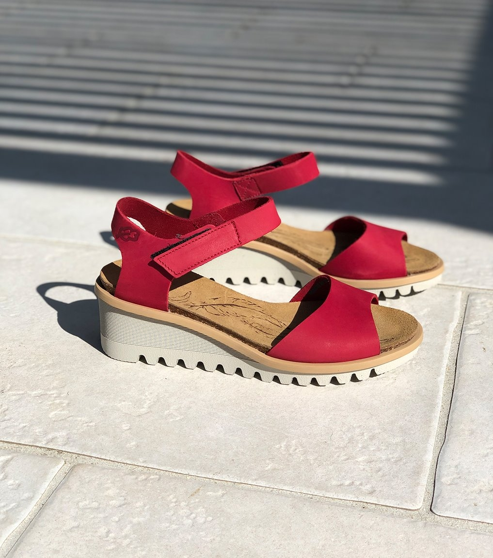 sandals bright 16070 red