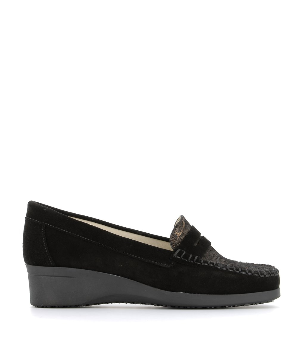 loafers jeanne black fauve