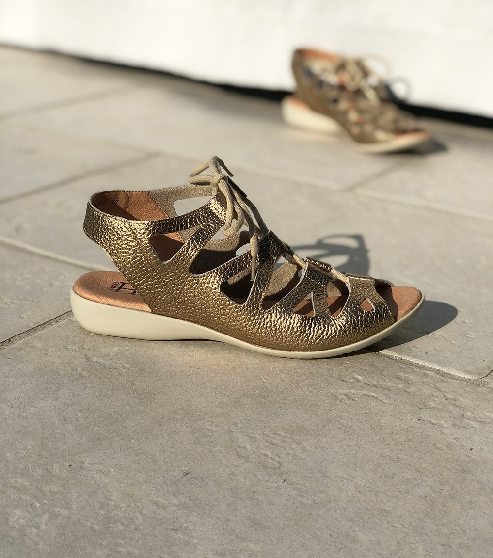 sandales laurette platine