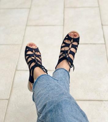 sandales laurette marine
