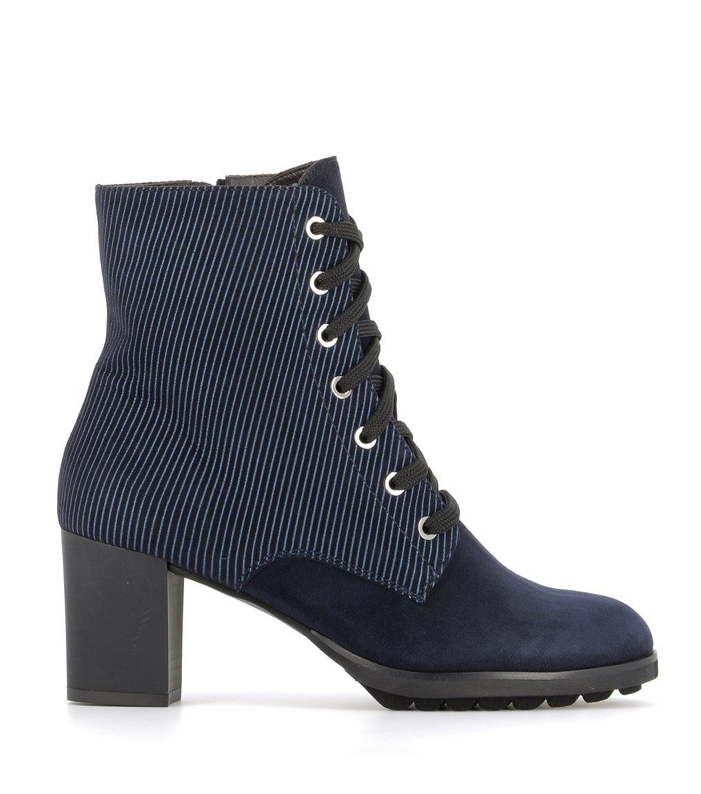 low boots 68164 velvet blu