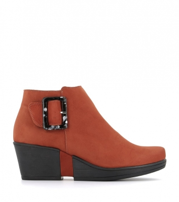 low boots camelia brique