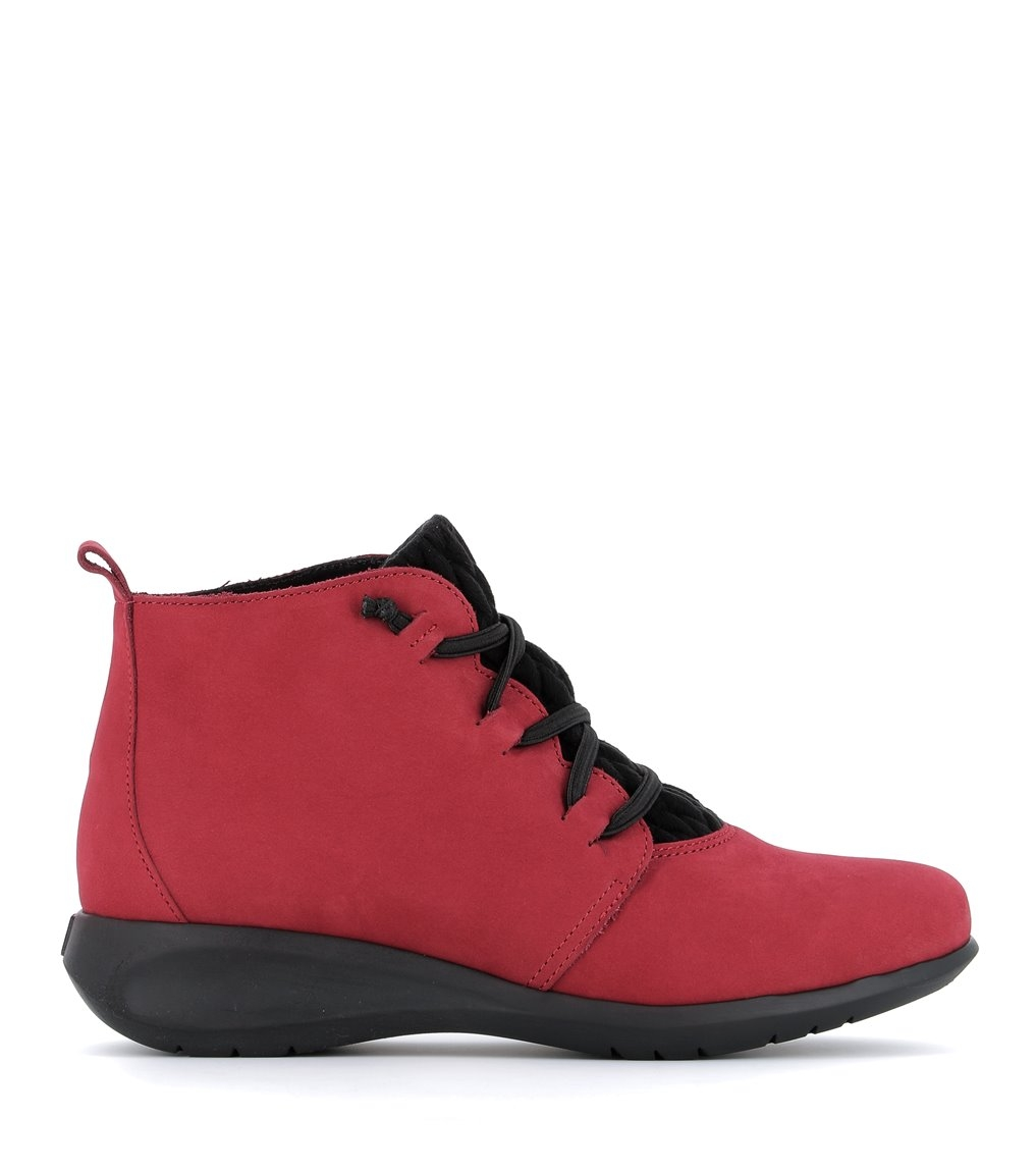 low boots sidonie red