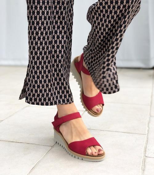 sandales bright 16070 rouge