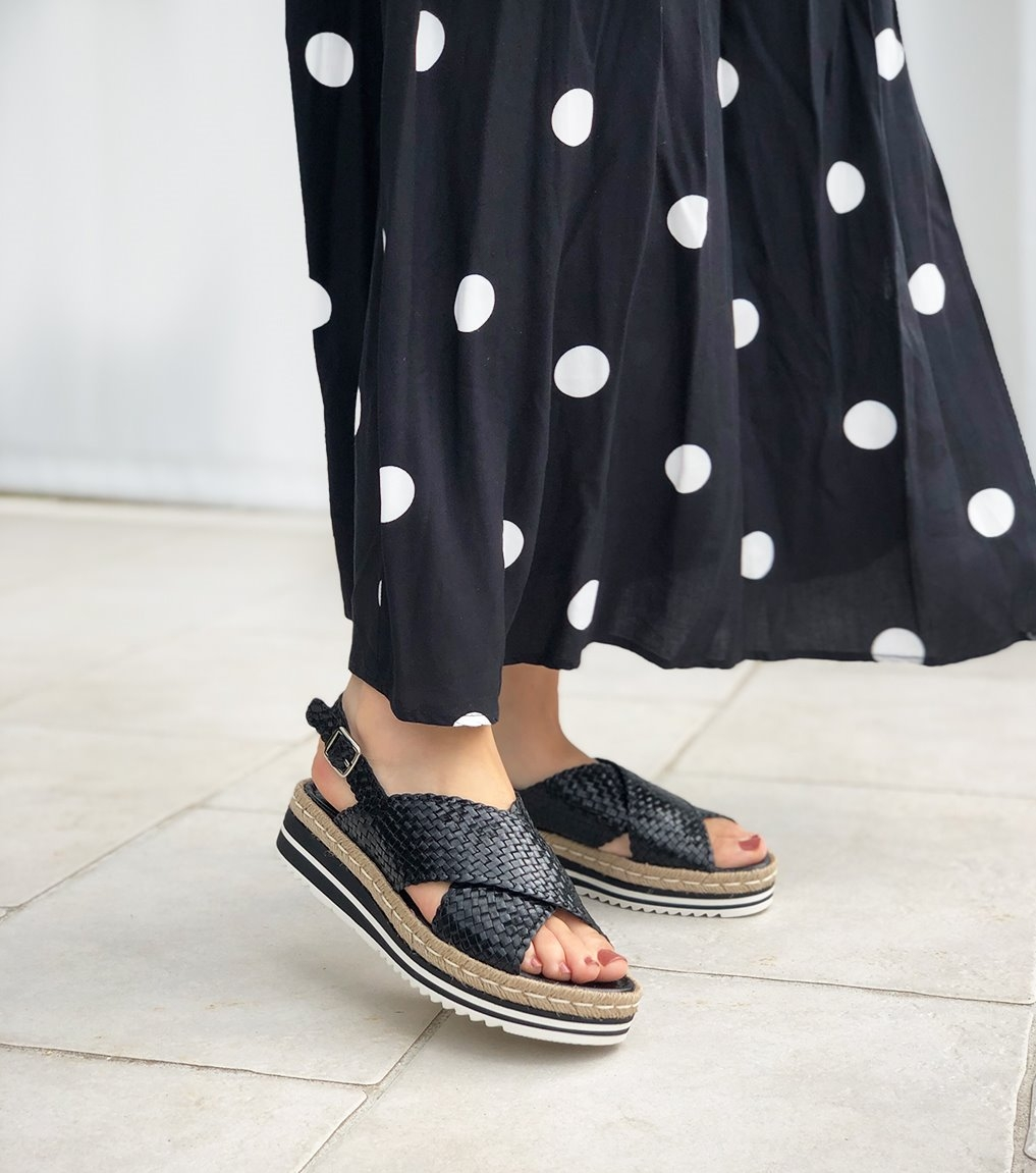sandals milan 8330 black
