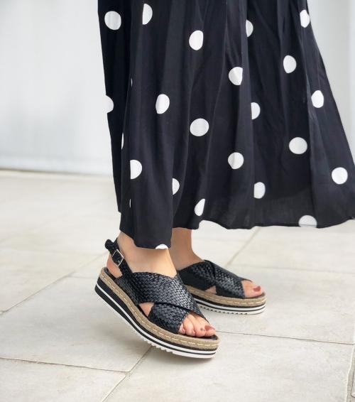 sandales milan 8330 noir