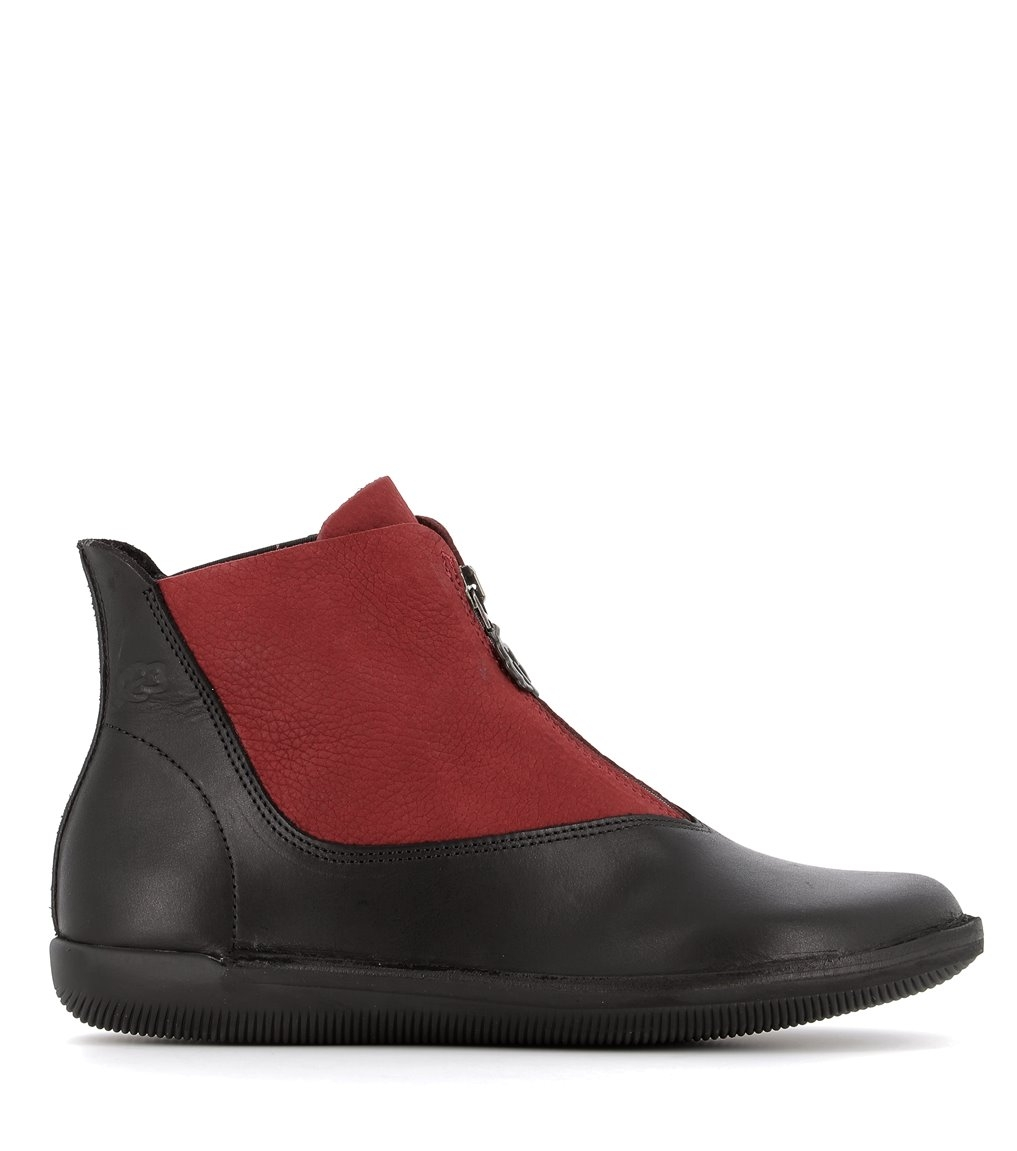 low boots natural 68612 rubywine