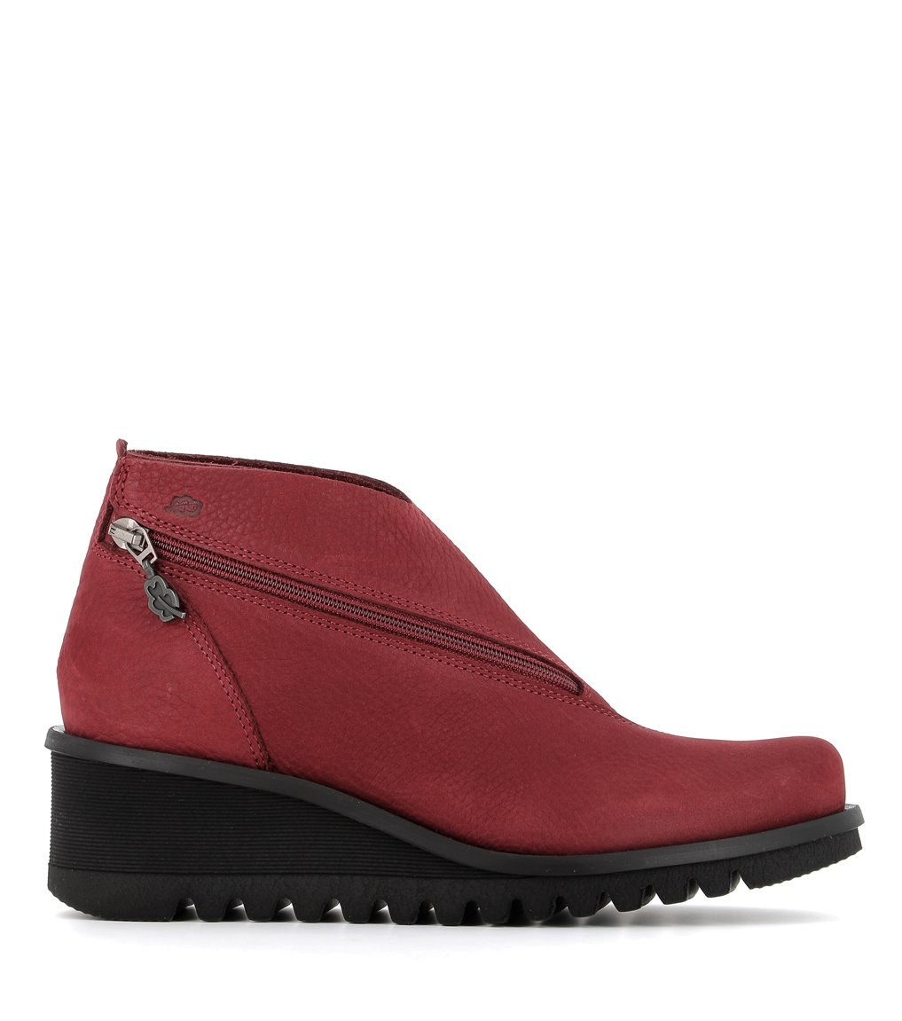 low boots lightning 33051 ruby wine