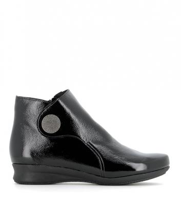 boots romarin noir verni