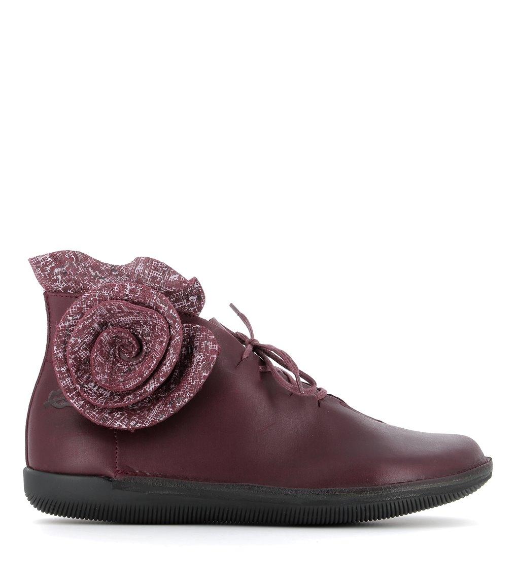 low boots natural 68463 burgundi