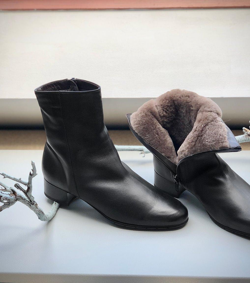 boots fourrées 38274 nero