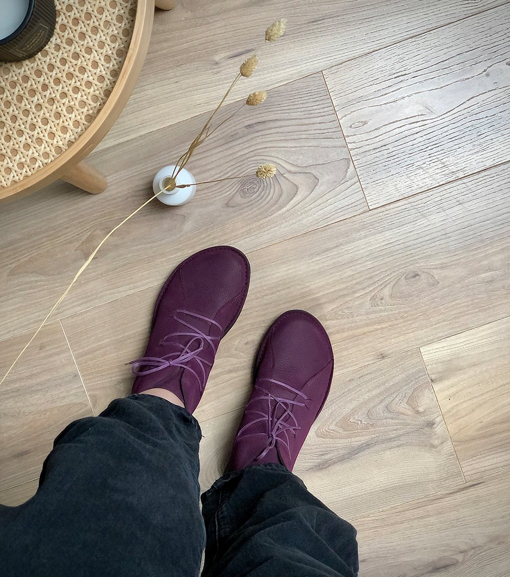 low boots forward 86010 plum