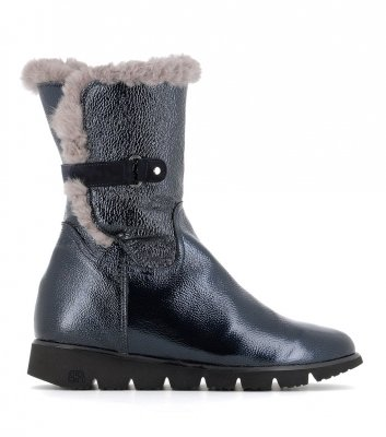 lined boots 28130 blu