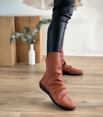 low boots circle 79005 cognac