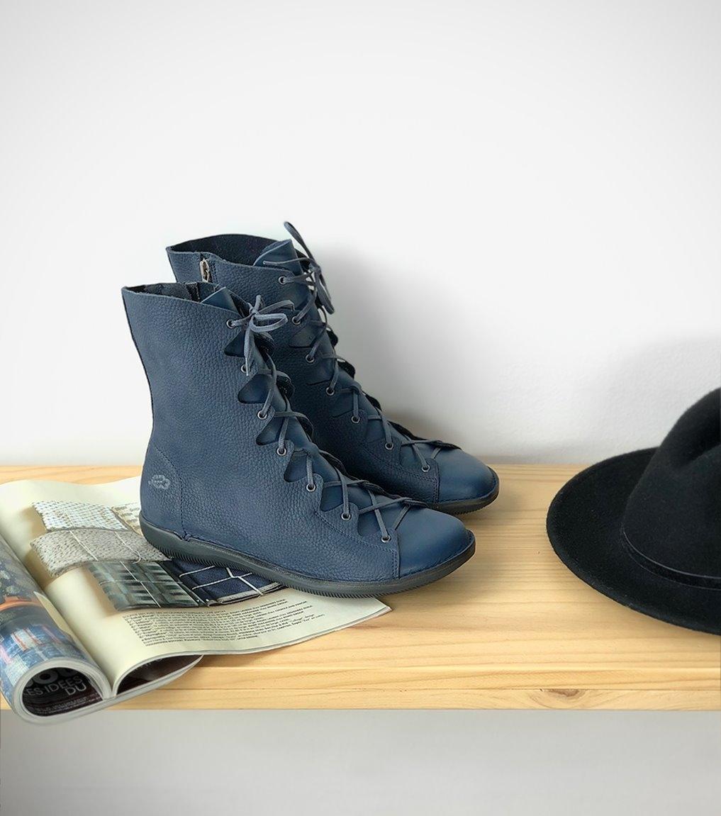 botas natural 68945 azul