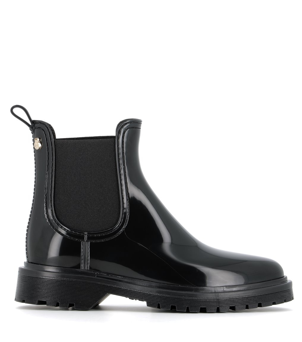 rain boots block 05 black