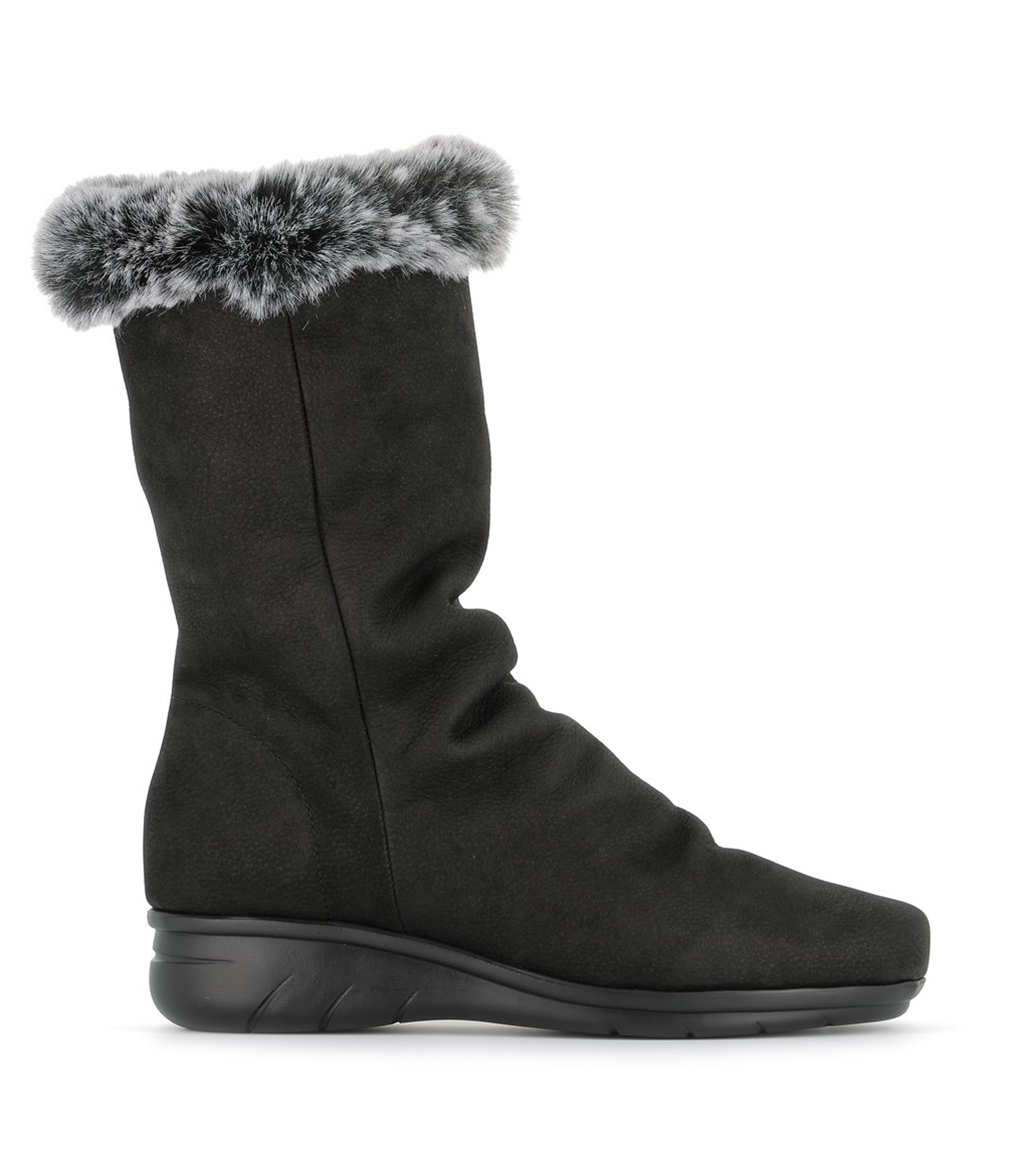 lined boots dorothy black