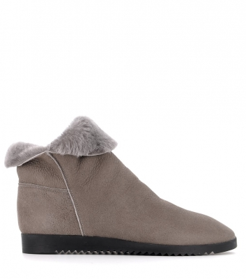 lined ankle boots baosha grey