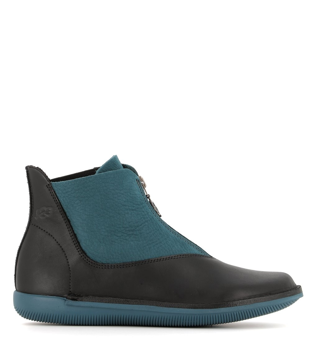 low boots natural 68089 turquoise