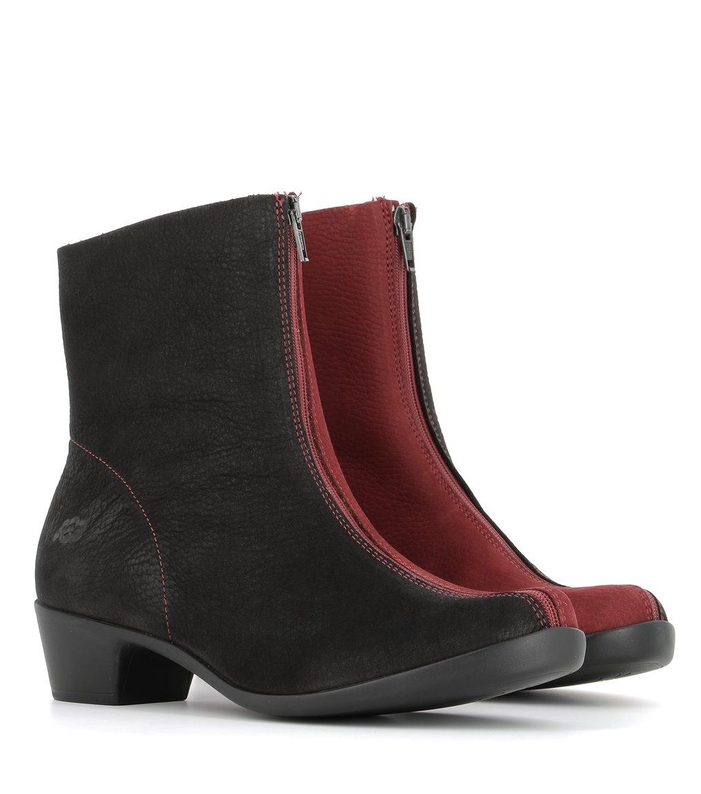 ankle boots opera 33985 black rubywine