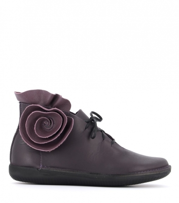low boots natural 68463 purple