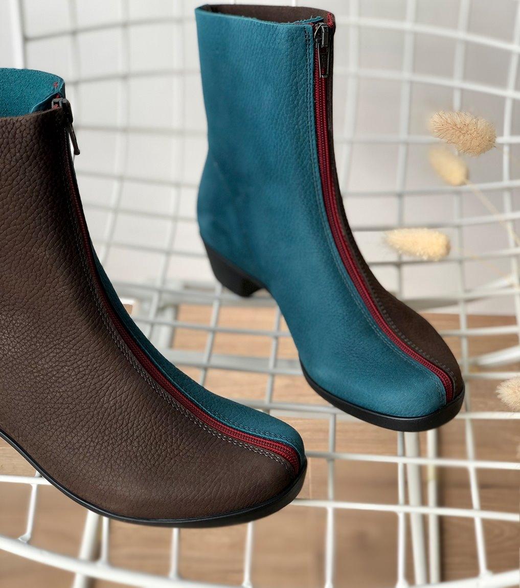 botas opera 33985 marrón turquoise