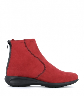 low boots sylvia red