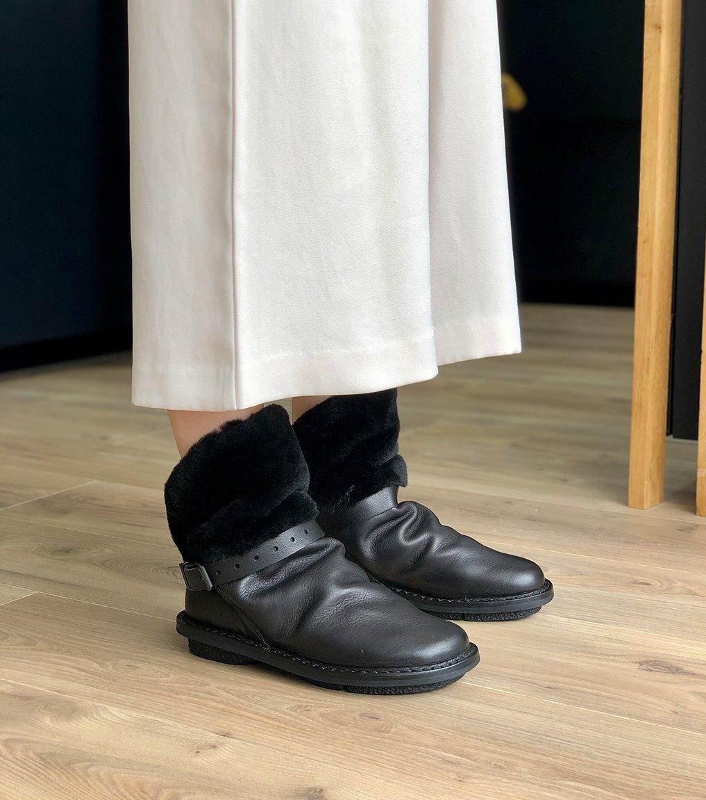 lined boots bomb mod f black