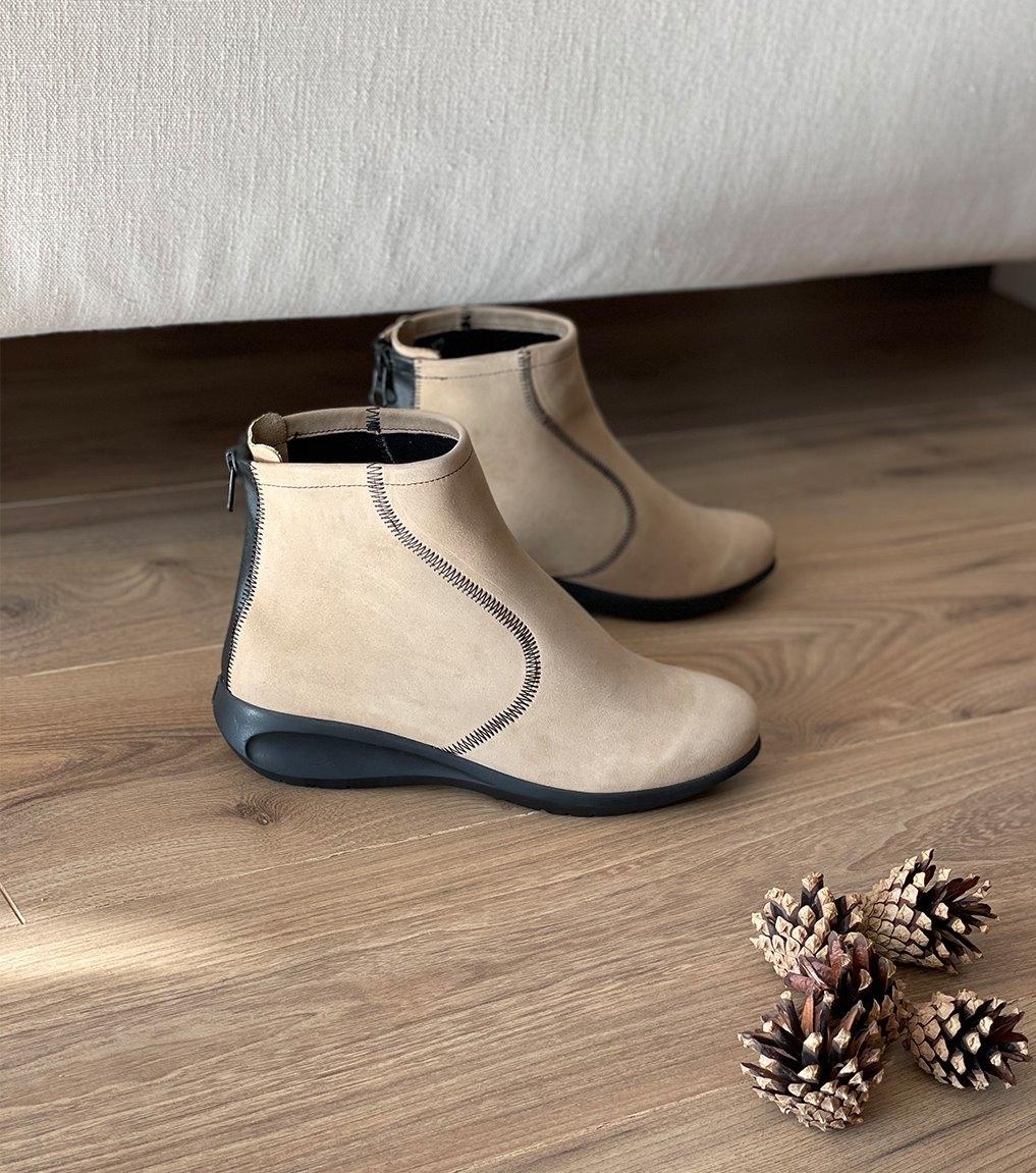 low boots sylvia beige