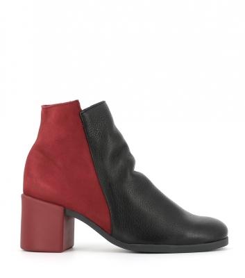 botines angaya negro rojo