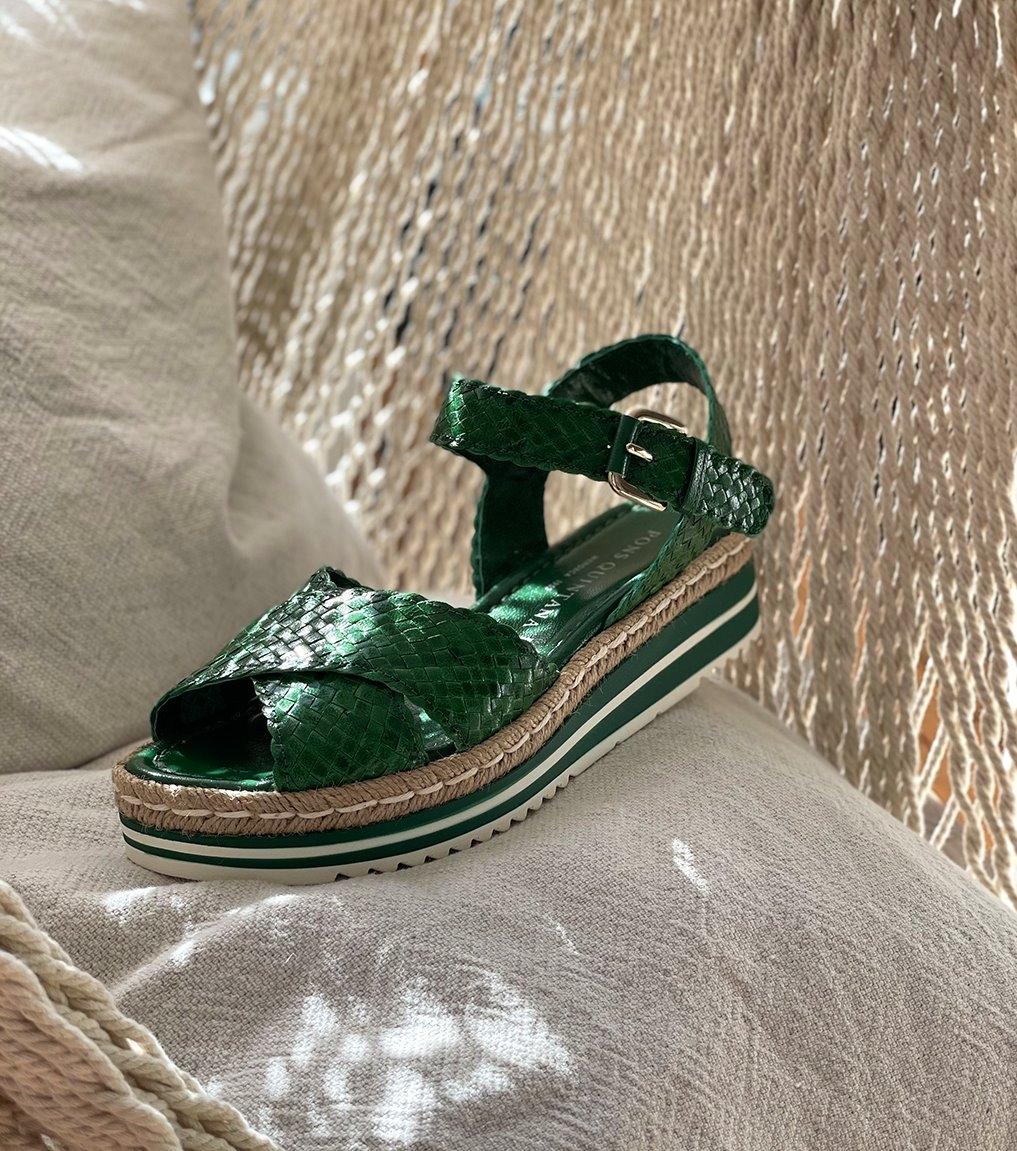 sandalias milan 8331 green