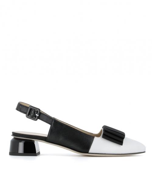 sandalias 31800 bianco nero