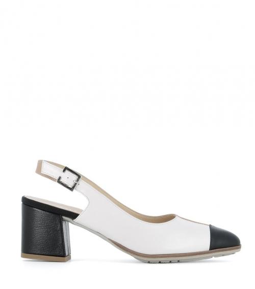 sandales 60438 bianco nero