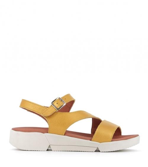 sandales fabienne safran