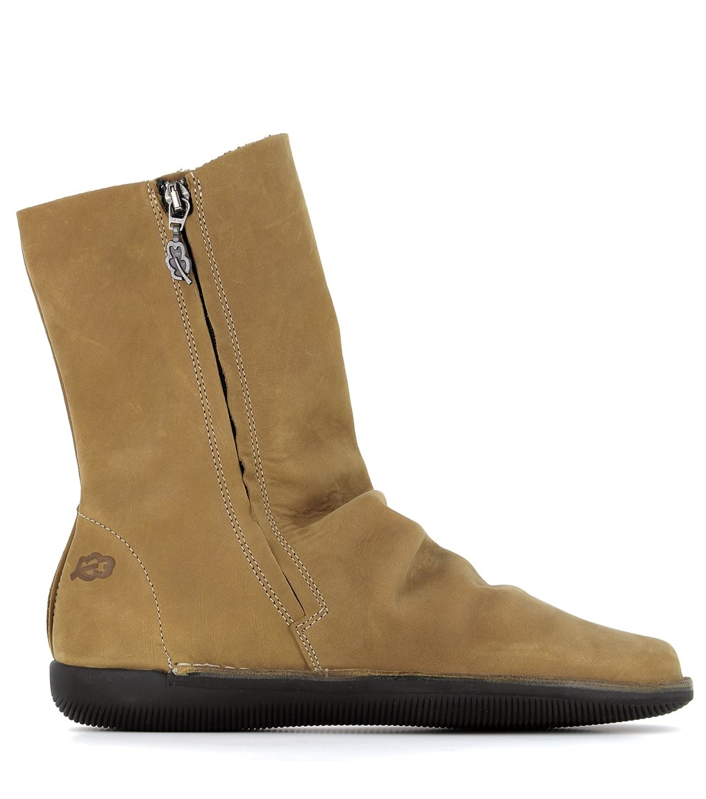 low boots natural 68111 mustard