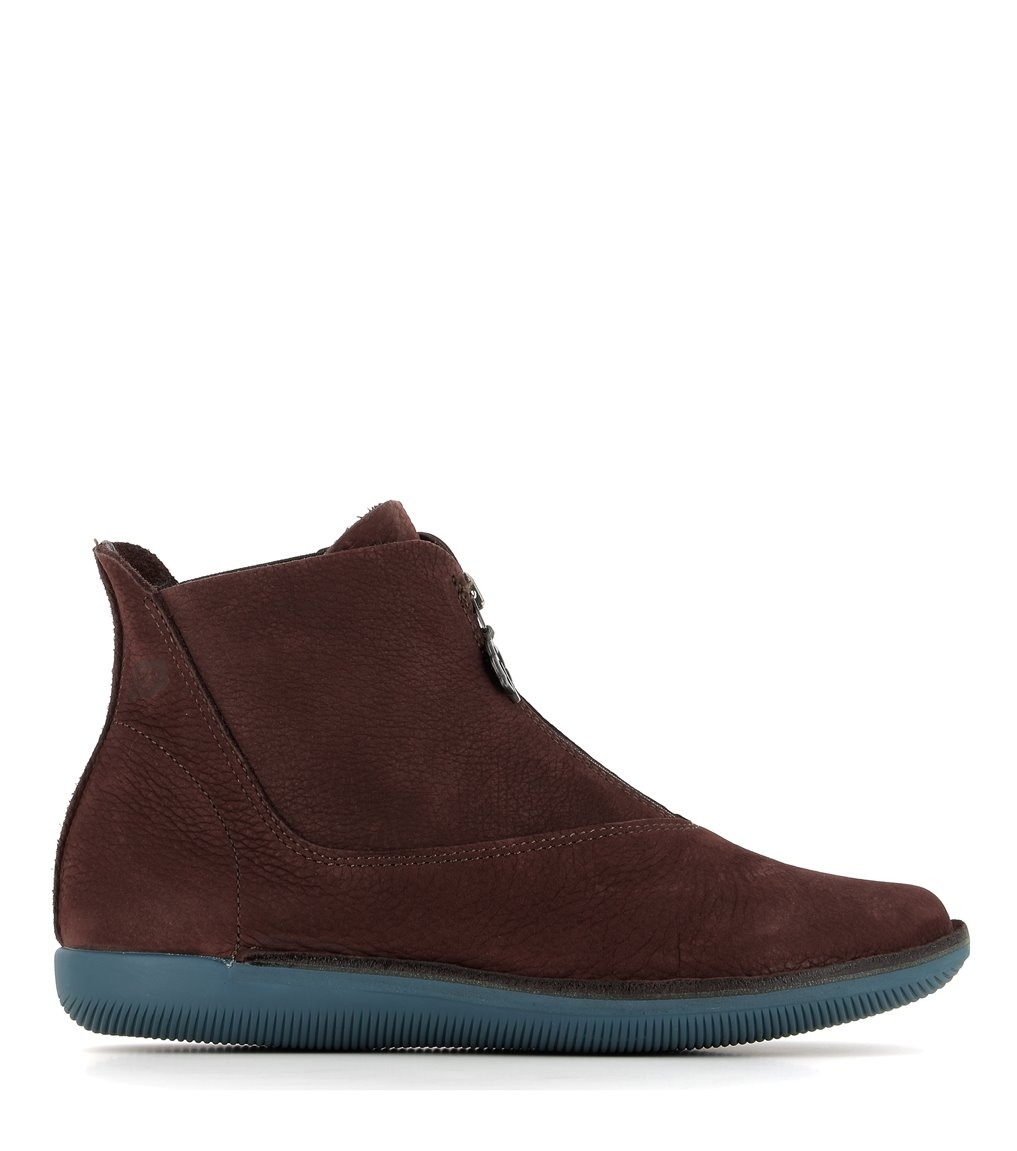 low boots natural 68089 maroon